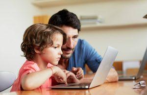 child-parent-laptop