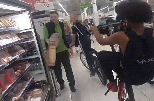 Anti-social behaviour - cycling in an Asda store to generate content for a YouTube channel.